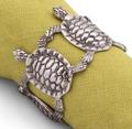 Sea Turtle Napkin Rings Set of Four   Vagabond House   O115ST