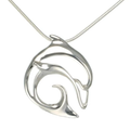 "Dolphin Pendant Necklace ""Flipper""   Big Blue Jewelry   Roland St. John   BC14-18"