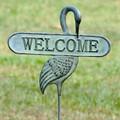 Welcoming Crane Garden Stake | 33290 | SPI Home -2