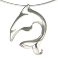 Dolphin Pendant Necklace | Big Blue Jewelry | Roland St. John | DOLSS-18
