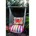 "Crab Striped Hammock Chair Swing Red ""Cristina Stripe"" | Magnolia Casual | CRFCCR-SP"