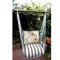 "Bunny Rabbit Hammock Chair Swing ""Striped Chocolate"" | Magnolia Casual | SCRRBWF-SP"