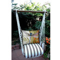 "Dragonfly Striped Hammock Chair Swing ""Striped Chocolate"" | Magnolia Casual | SCRDFL-SP"