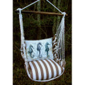 """Seahorse Striped Hammock Chair Swing """"Striped Chocolate"""" 