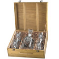 Leopard Capitol Decanter Boxed Set | Heritage Pewter | HPICPTB137