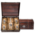 Bear Tribal Decanter Chest Set | Heritage Pewter | HPICPTC3999