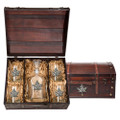 Maple Leaf Decanter Chest Set | Heritage Pewter | HPICPTC4111