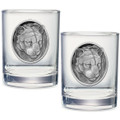Mountain Lion Double Old Fashioned Glass Set of 2 | Heritage Pewter | HPIDOF208