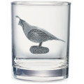 Quail Double Old Fashioned Glass Set of 2 | Heritage Pewter | HPIDOF3140 -2