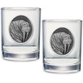 Walrus Double Old Fashioned Glass Set of 2 | Heritage Pewter |  HPIDOF207