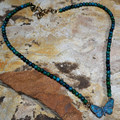Butterfly Verdigris Brass Pendant Necklace | Elaine Coyne Jewelry | ZGP832N -2