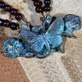 Butterfly on Roses Verdigris Brass Pendant Necklace | Elaine Coyne Jewelry | ZGP208N