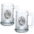 Mermaid Beer Stein Set of 2 | Heritage Pewter | HPIST4272