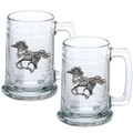 Horse Tribal Beer Stein Set of 2 | Heritage Pewter | HPIST4229