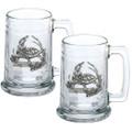 Turtle Beer Stein Set of 2 | Heritage Pewter | HPIST4115