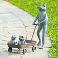 Frog Family with Wagon Planter | 34550 -3