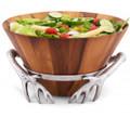 Antler Wood Salad Bowl | Arthur Court Designs | 218A11