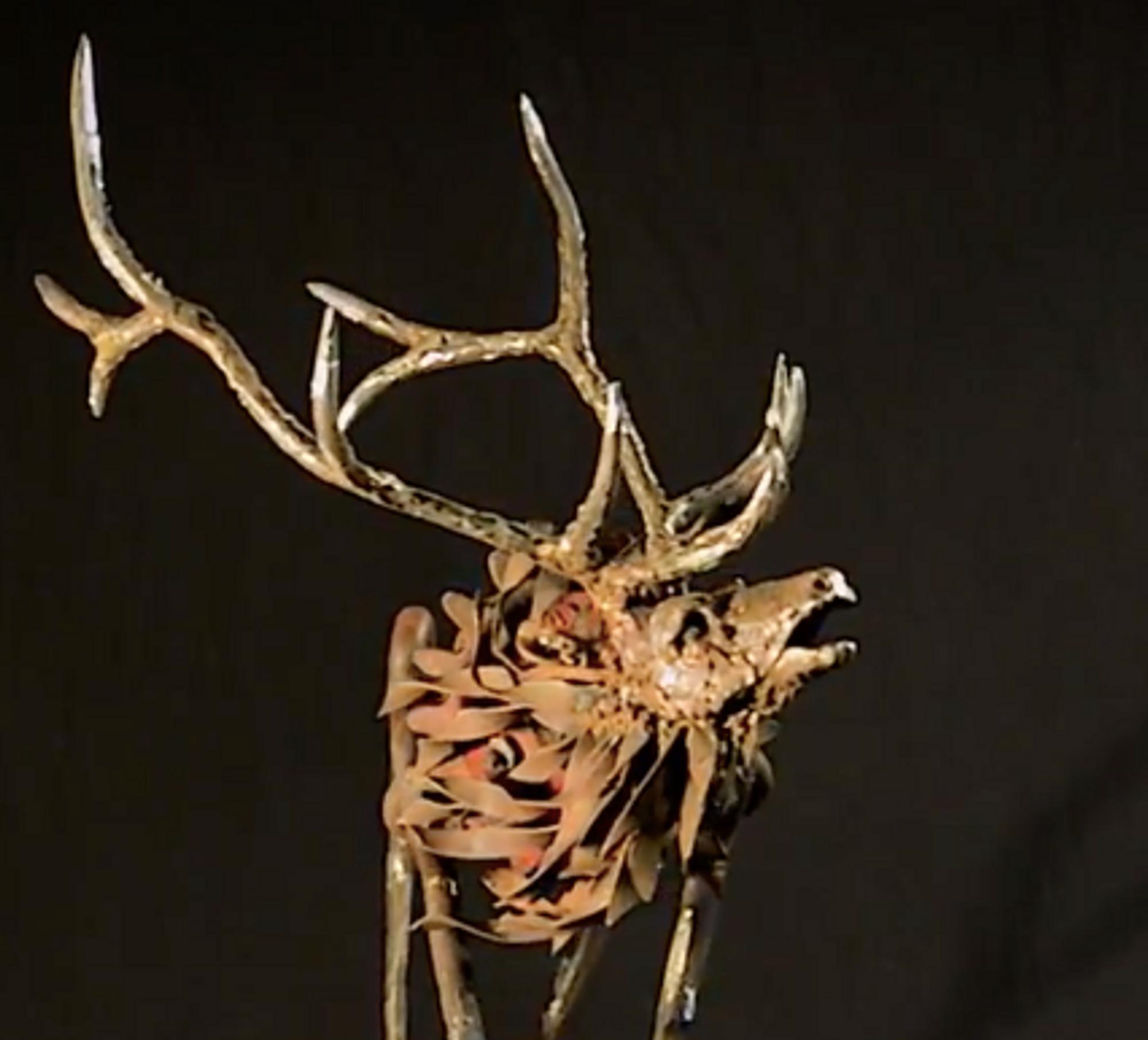 Caribou Deer Wood Wall Decor Handmade Elk Fox Stallion Wolf