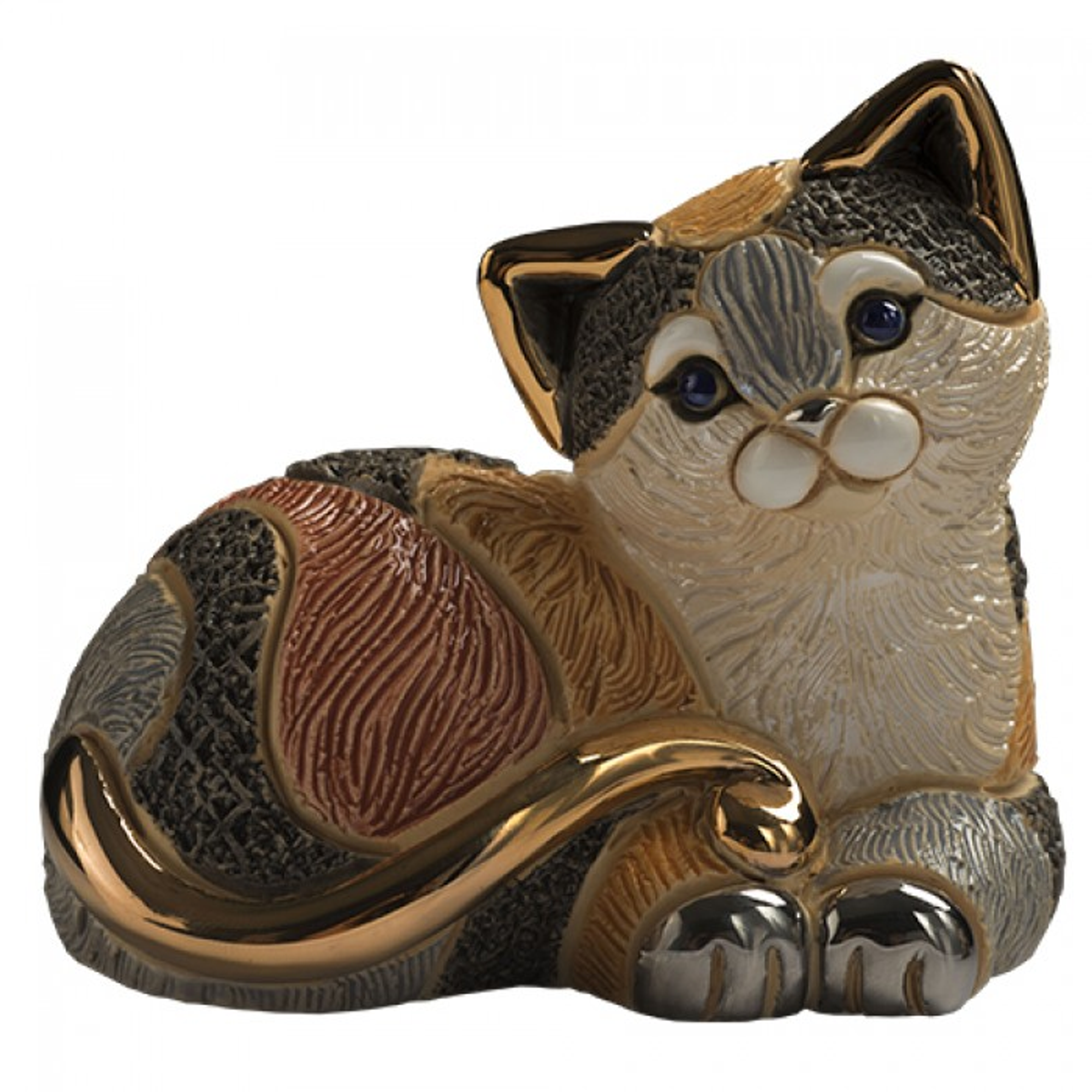 Abanico Cat Ceramic Figurine