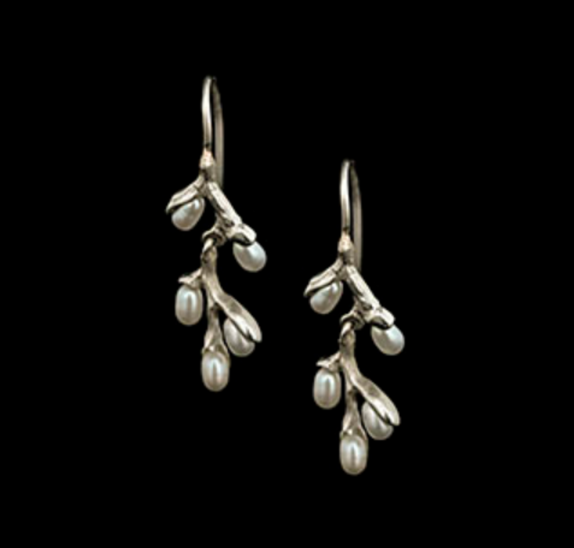 Willow Elegant Pearl and Sterling Silver Earrings