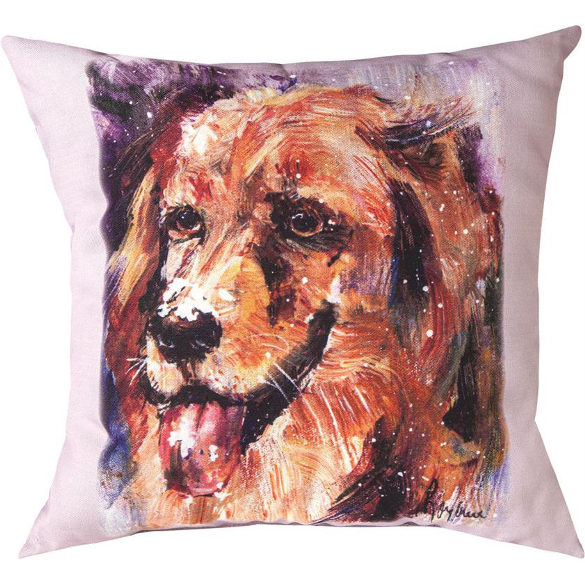 Golden Retriever Pet Love Throw Pillow Manual Woodworkers Golden Retriever Pillow