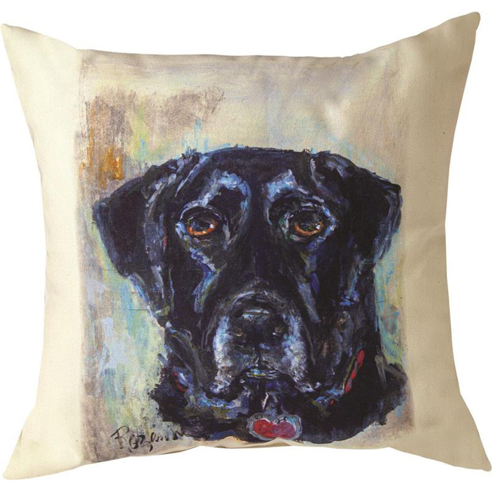 Black Lab Pet Love Indoor Outdoor Throw Pillow Manual Woodworkers Black Lab Pillow