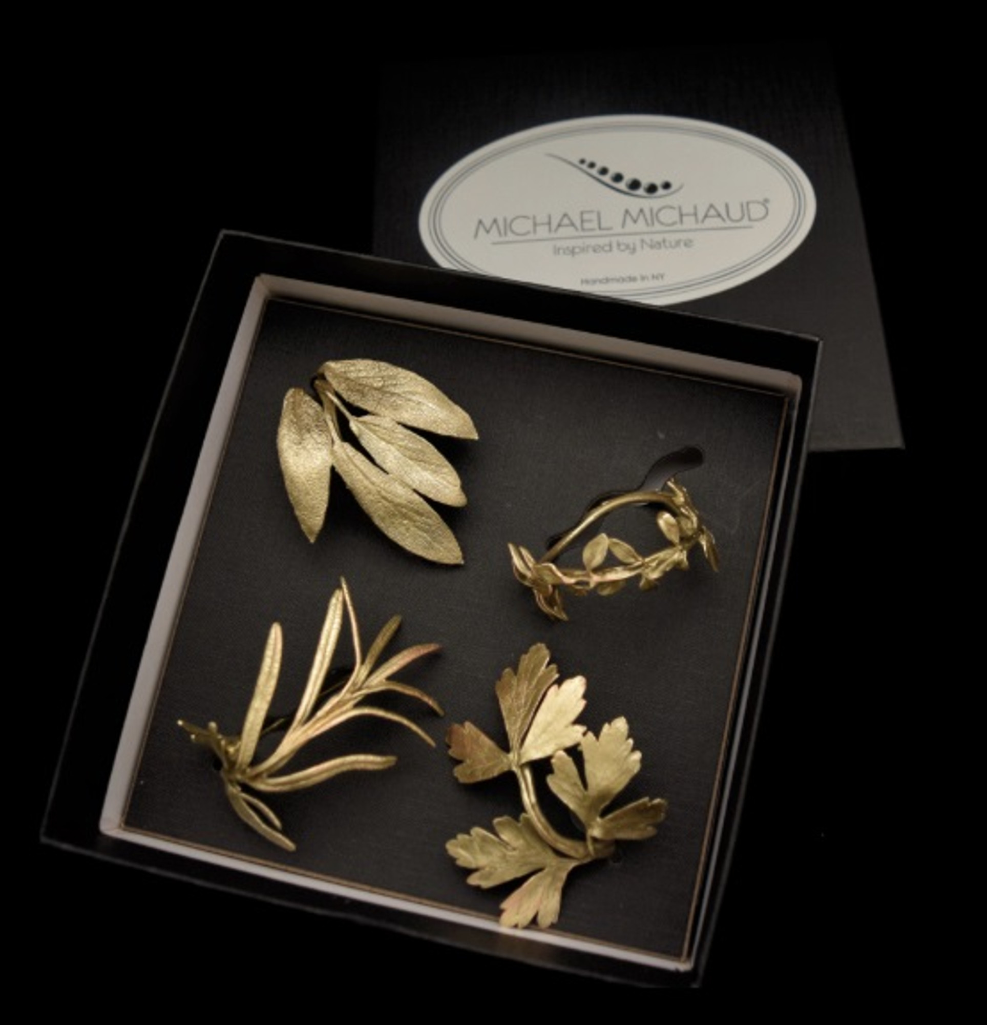 Herb Assortment Napkin Rings Tableware Michael Michaud