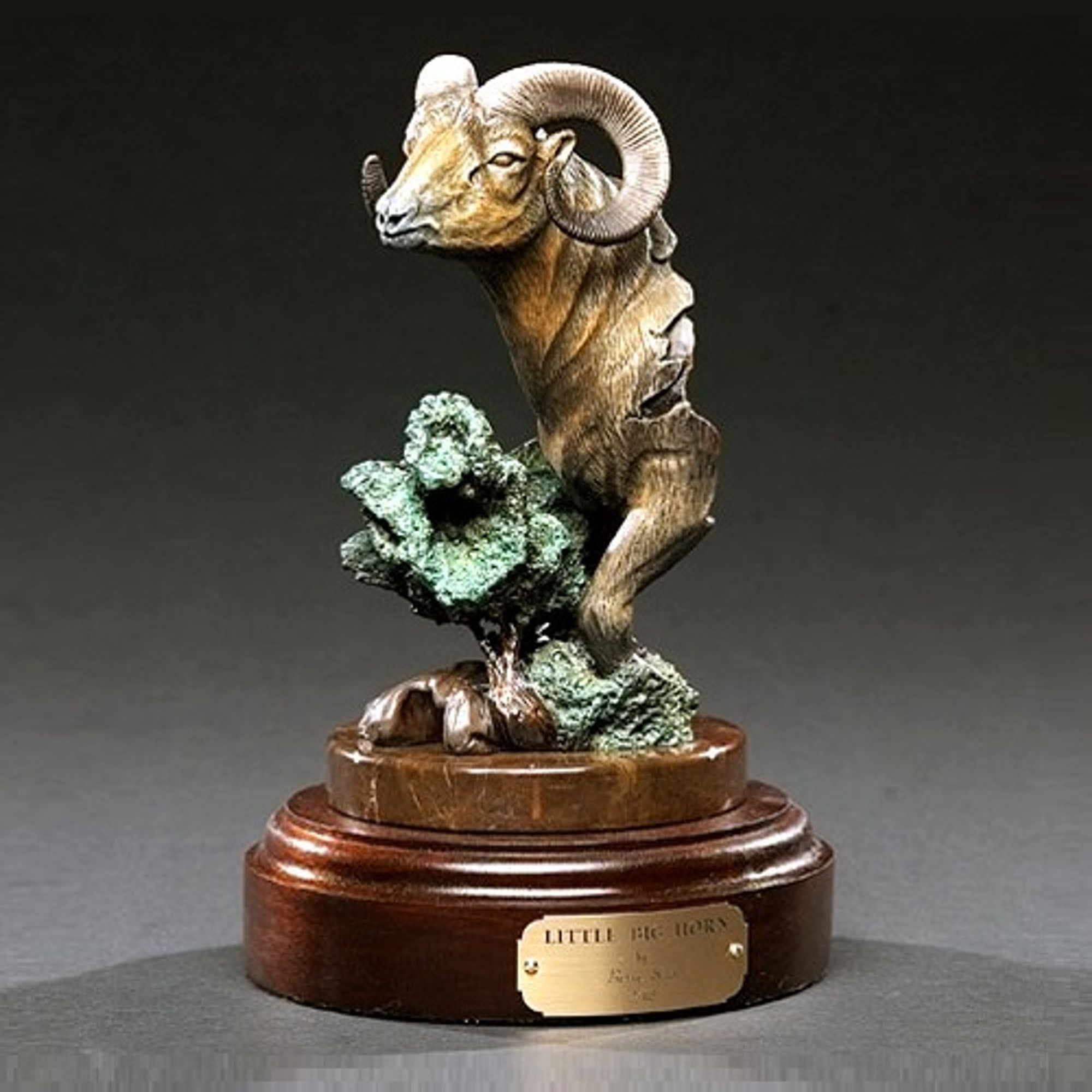 Ram Sculpture Bronze Barry Stein Little Bighorn