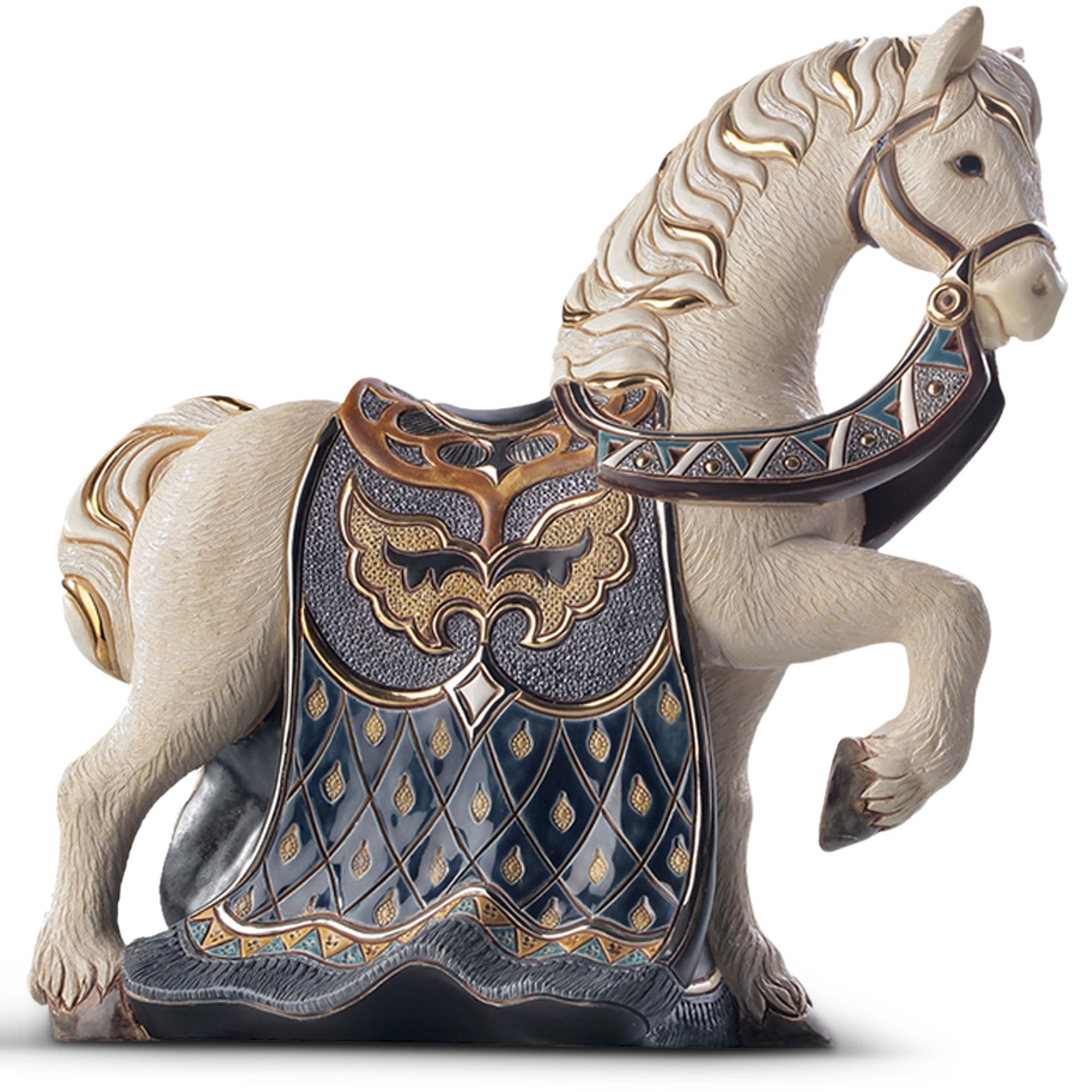 Ceramic Horse Figurine De Rosa Collection Imperial