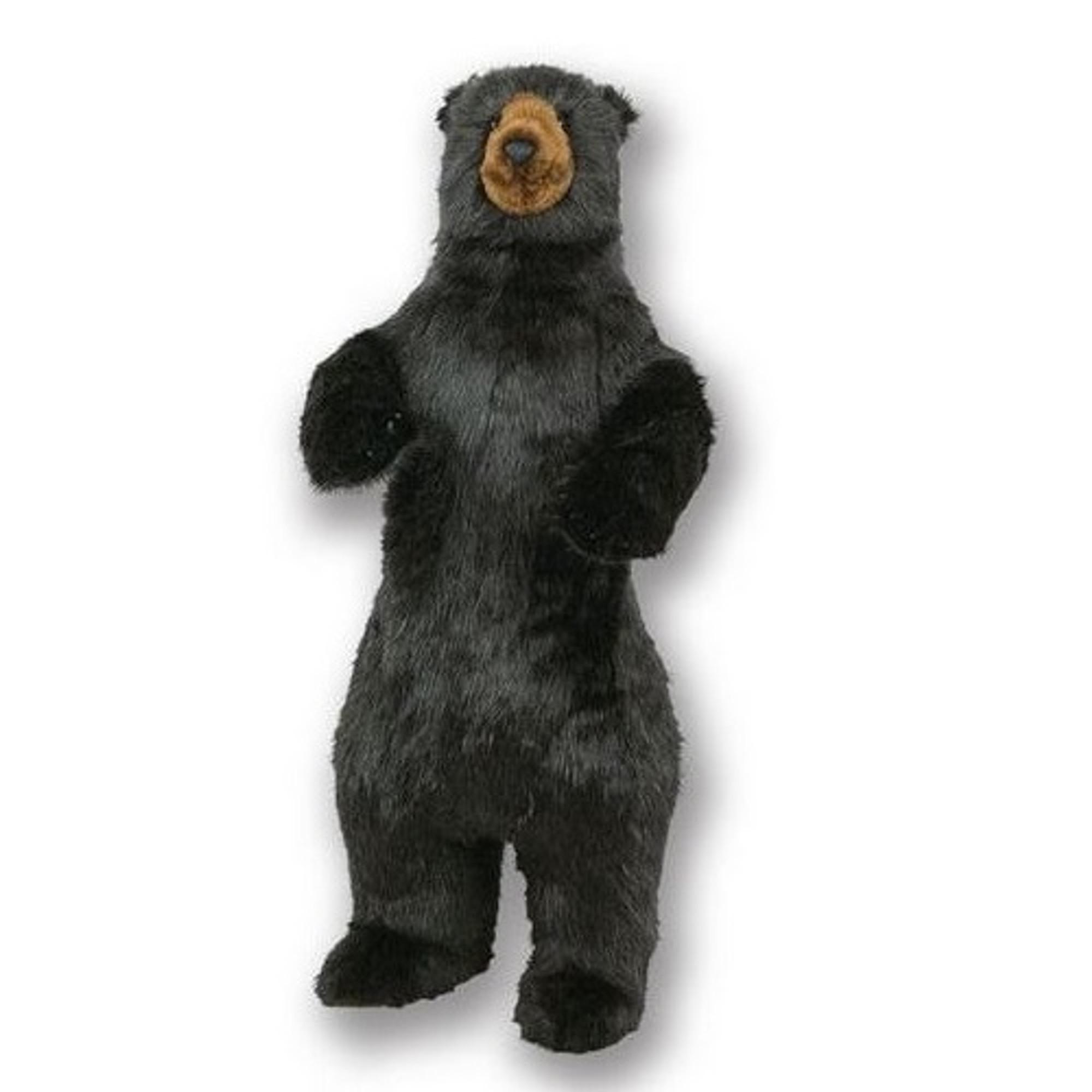 Sunbear Stuffed Animal, Black Bear Standing Plush Stuffed Animal Life Size Ditz Designs