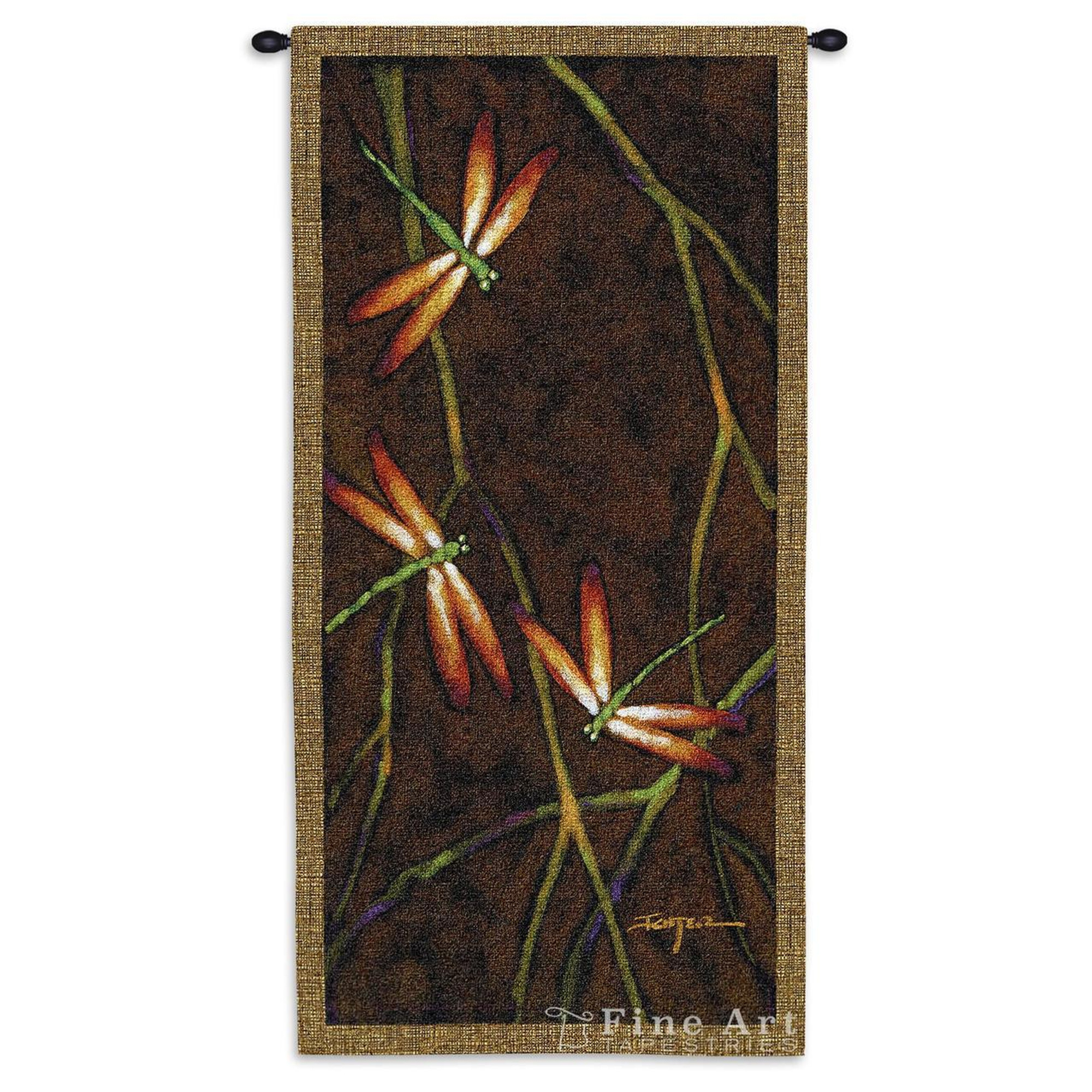 Dragonfly Tapestry Wall Hanging October Song I