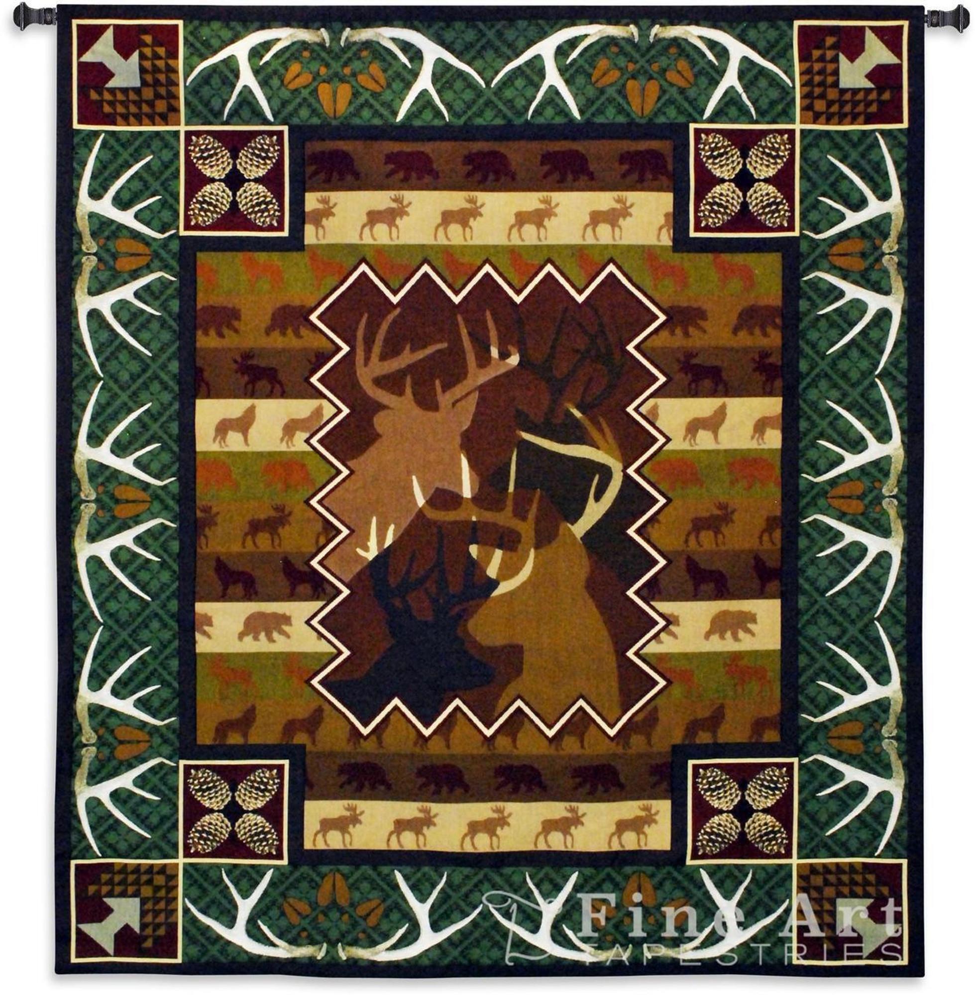 Deer Tapestry Deer Art Wall Hanging Fine Art Tapestries