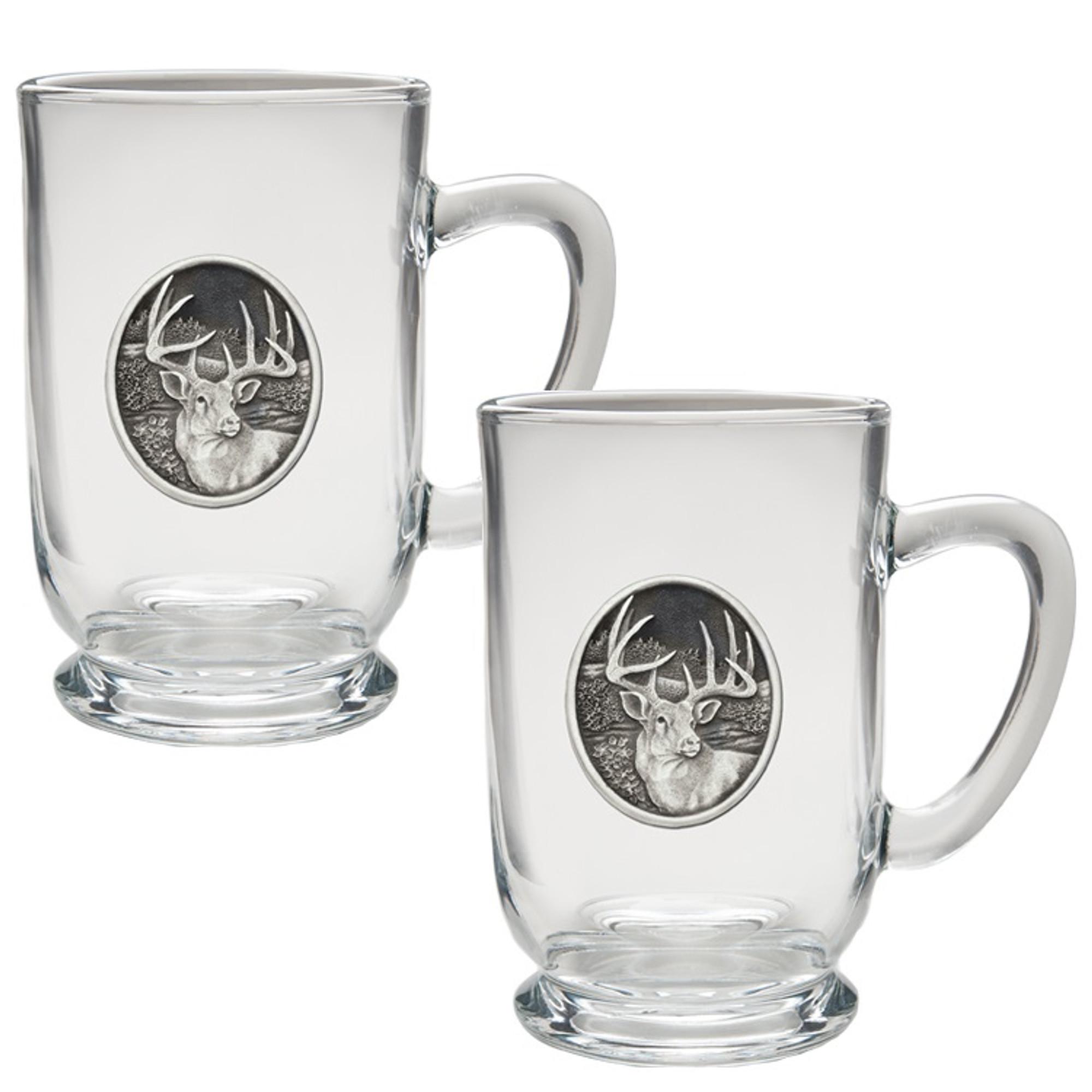 Whitetail Deer Coffee Mug Set Heritage Pewter