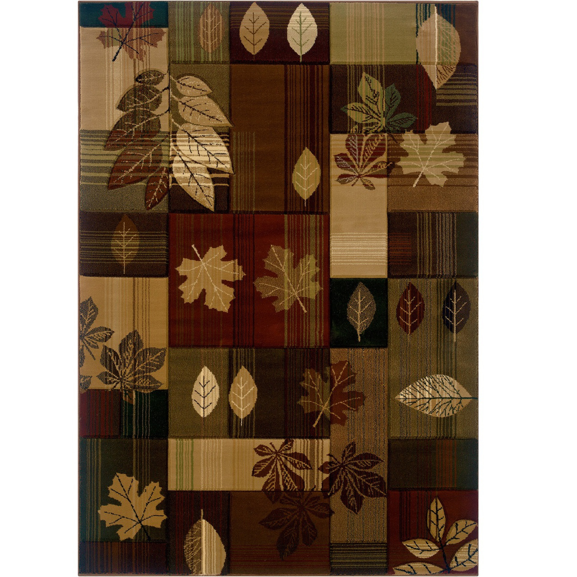 Autumn Bliss Leaves Rug Area Decor