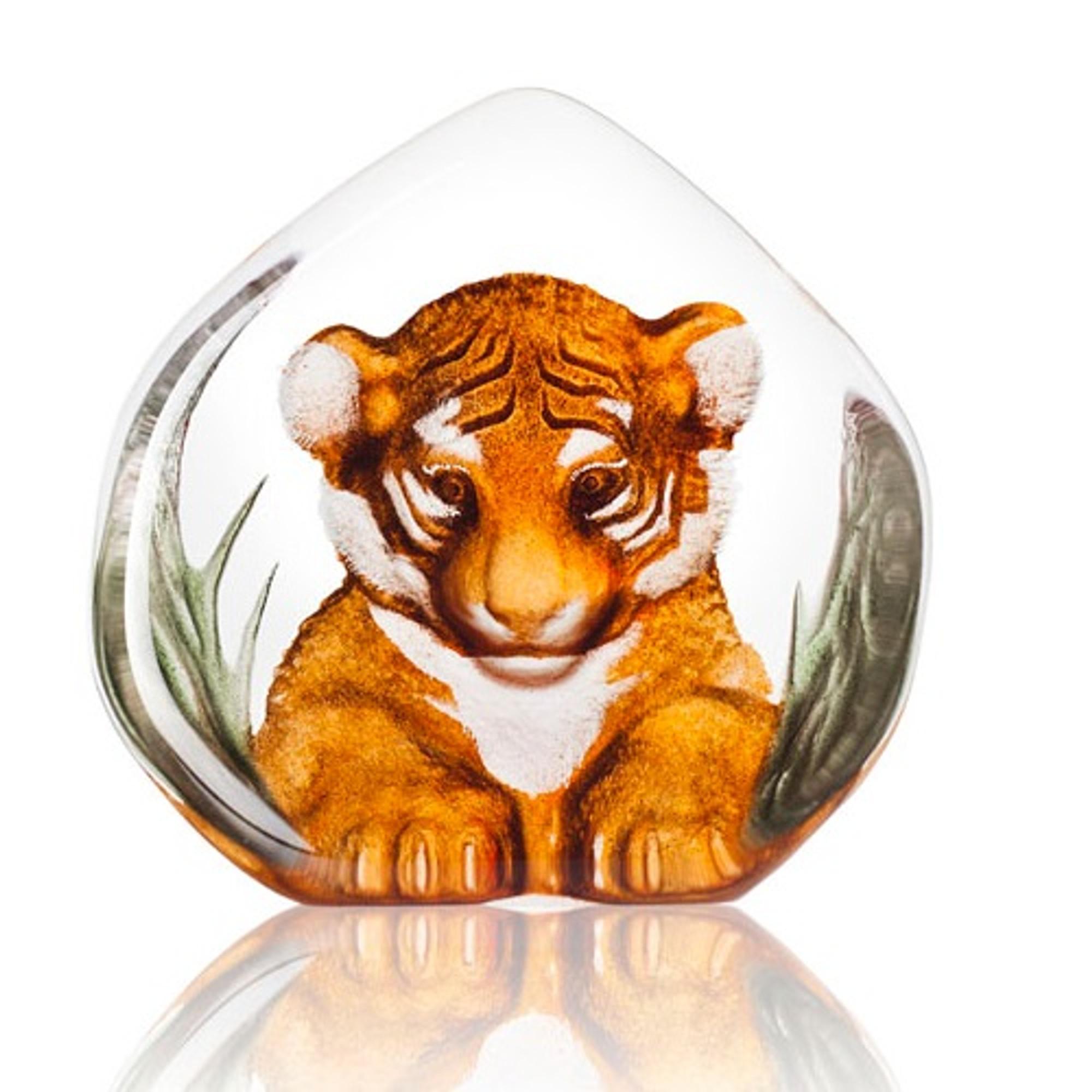 small Tiger Cub paw print ornament