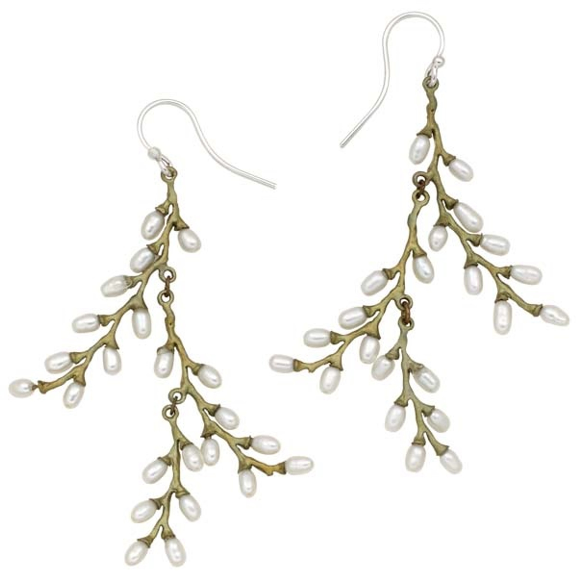 Michael Michaud Jewelry Rice Pearl Wire Earrings SS3171BZWP
