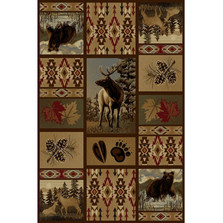 Bear Deer Wilderness Area Rug | Persian Weavers | W-760