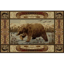 Bear Fish Wilderness Area Rug | Persian Weavers | W-761