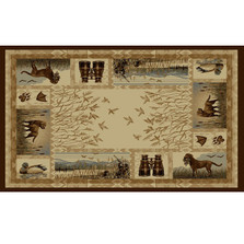 Duck Hunter Wilderness Area Rug | Persian Weavers | W-764