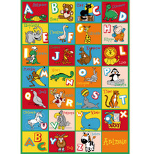 Alphabet Animals Paradise Area Rug | Persian Weavers |ALPHABET-ANIMALS-1