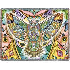 Owl Tapestry Throw Blanket | Pure Country | 8005T