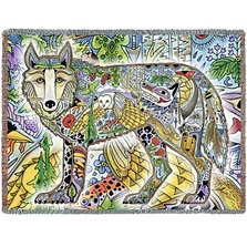 Wolf Tapestry Throw Blanket | Pure Country | 8013T