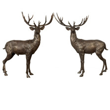 Deer Pair Standing Bronze Statue | Metropolitan Galleries | SRB10069-2