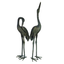 Crane Pair Bronze Statue | Metropolitan Galleries SRB15075-1