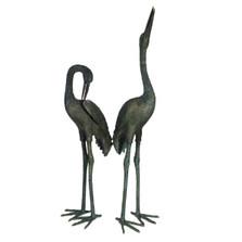 Crane Pair Bronze Statue | Metropolitan Galleries SRB15075-1