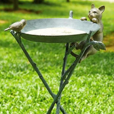 Cat & Bird Birdbath | 33562 | SPI Home -2