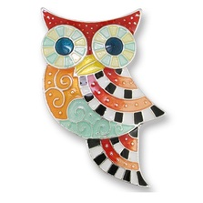 Owl Enameled Silver Plated Pin | Zarah Jewelry | 20-07-Z2