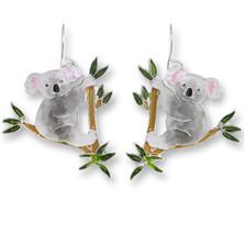 Koala Bear Enameled Wire Earrings   Zarah Jewelry   29-11-Z1