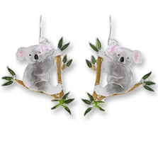 Koala Bear Enameled Wire Earrings | Zarah Jewelry | 29-11-Z1