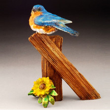 "Bluebird Bronze Sculpture ""Baby Blue"" 